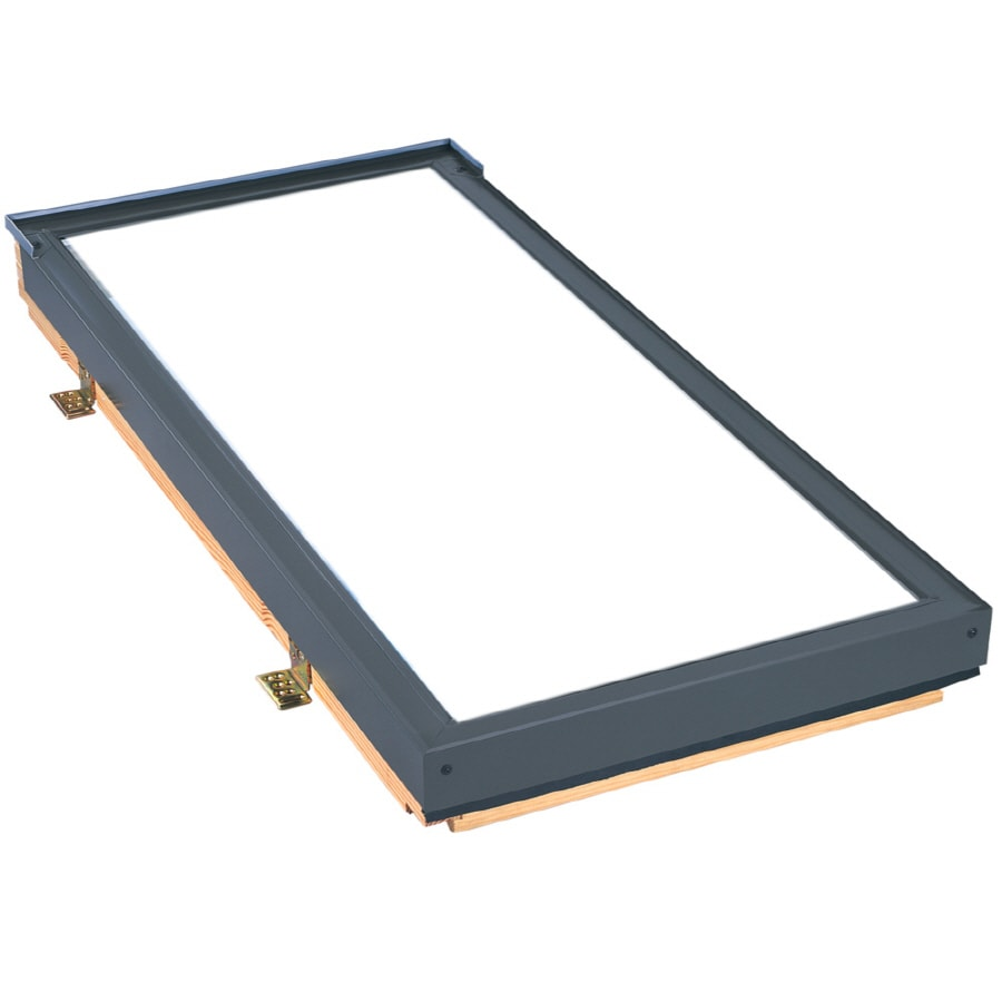 Shop velux 21 x 47 velux fixed deck mount skylight with for Velux glass