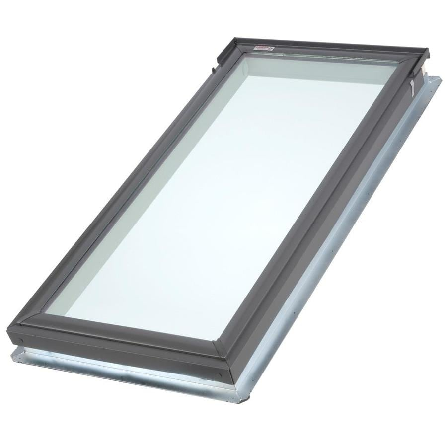 shop velux fixed tempered skylight fits rough opening 21 in x actual 24 in x. Black Bedroom Furniture Sets. Home Design Ideas