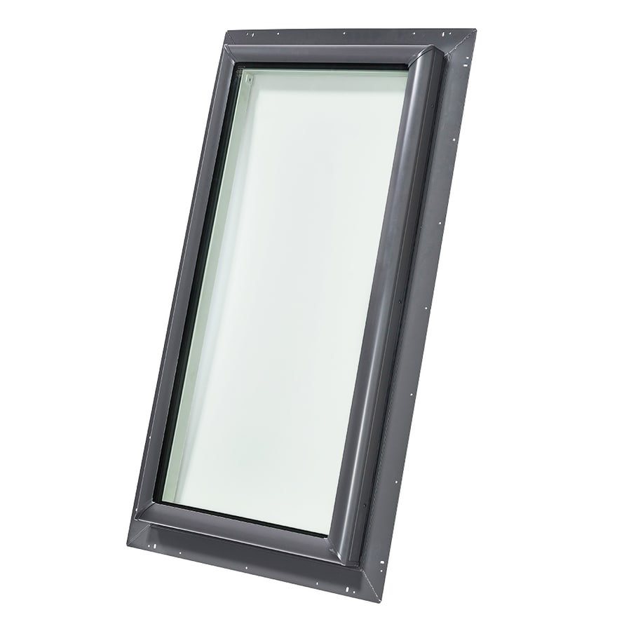 Shop velux fixed tempered skylight fits rough opening 22 for Velux glass