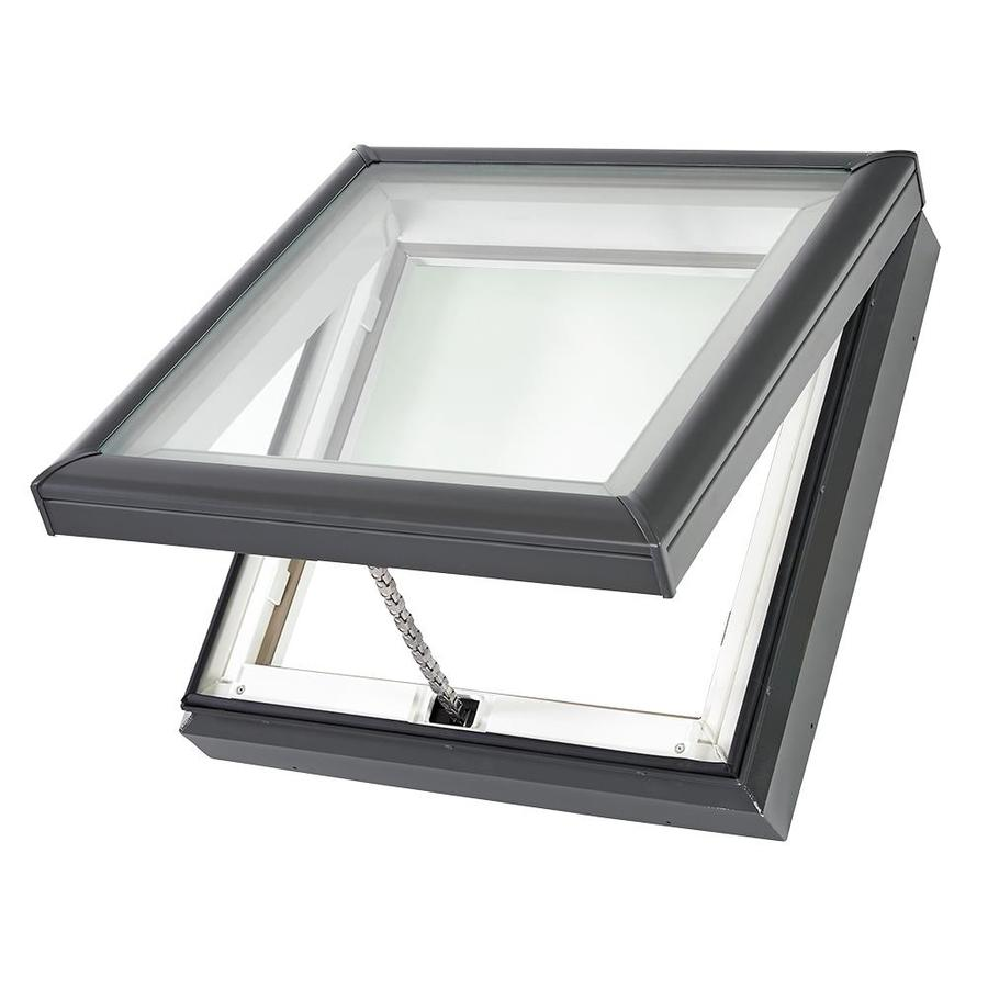 shop velux venting tempered skylight fits rough opening 46 5 in x 46 5 in actual x. Black Bedroom Furniture Sets. Home Design Ideas