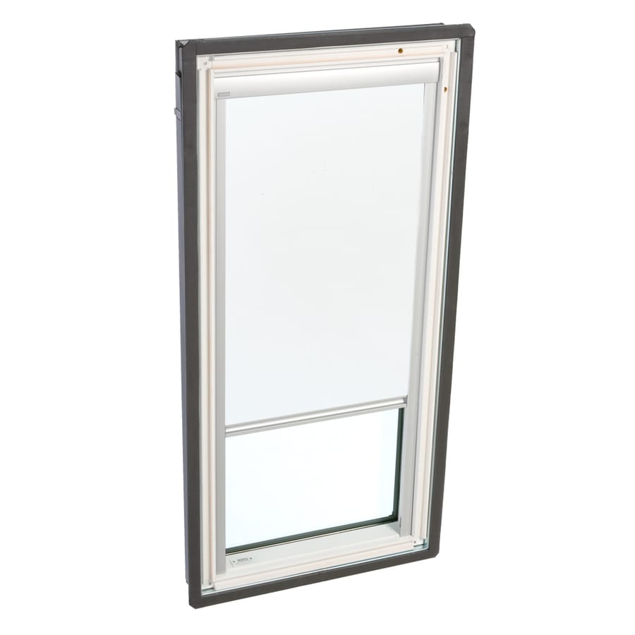 Shop velux white manual blackout blind at for Velux solar blinds installation instructions
