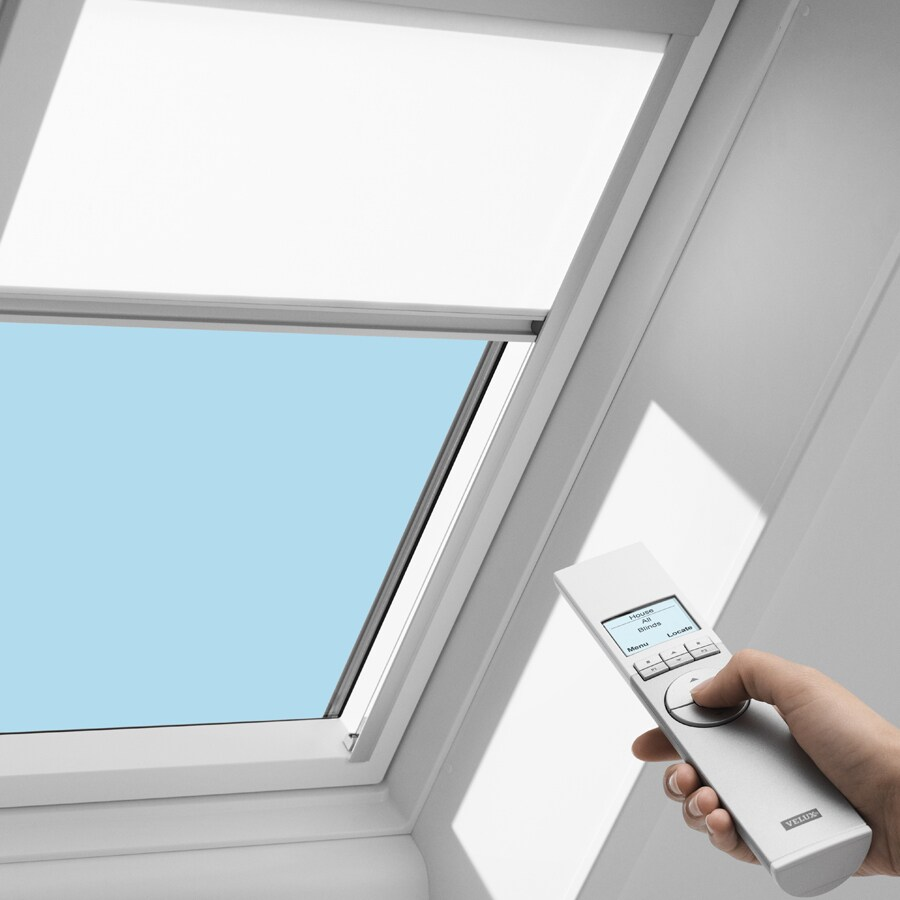Shop velux vce 4646 electric roller blind at for Velux window blinds remote control