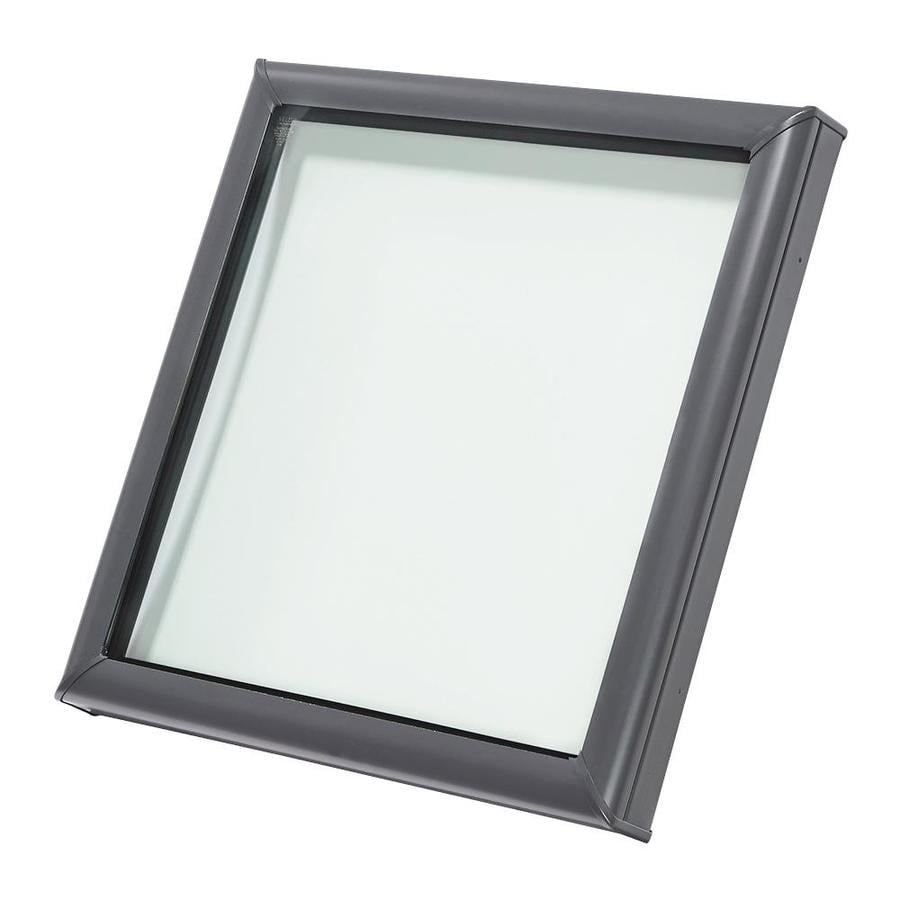 shop velux fixed impact skylight fits rough opening 46 5 in x 46 5 in actual x 51. Black Bedroom Furniture Sets. Home Design Ideas