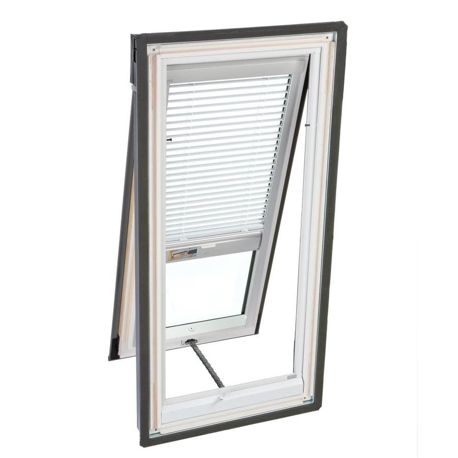 Shop velux white manual venetian blind at for Velux solar blinds installation instructions