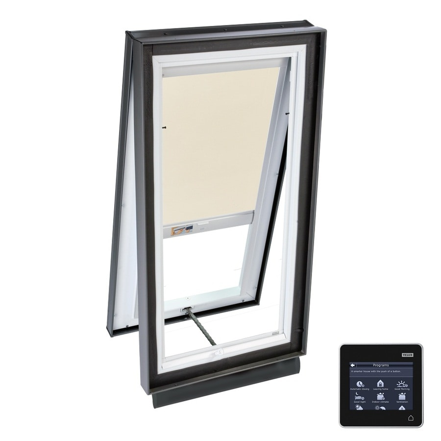 VELUX Solar-Powered Venting Laminated Skylight with Solar-Powered Light-Blocking Shade (Fits Rough Opening: 30.5-in x 46.5-in; Actual: 35.375-in x 51.375-in)