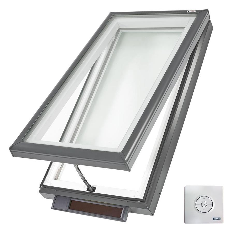 VELUX Solar-Powered Venting White Laminated Skylight (Fits Rough Opening: 30.5-in x 46.5-in; Actual: 35.375-in x 51.375-in)