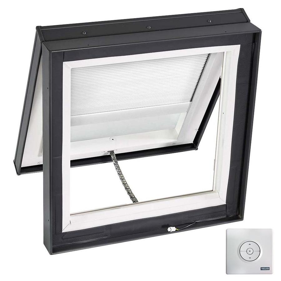 VELUX Solar-Powered Venting Laminated Solar-Powered Light-Blocking Skylight (Fits Rough Opening: 22.5-in x 22.5-in; Actual: 27.375-in x 27.375-in)