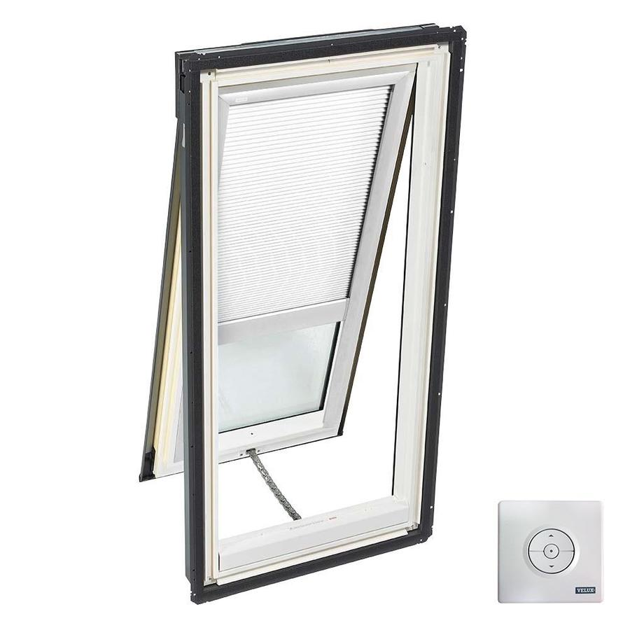 VELUX Solar-Powered Venting Laminated Solar-Powered Light-Blocking Skylight (Fits Rough Opening: 30.06-in x 54.44-in; Actual: 33.06-in x 57.44-in)