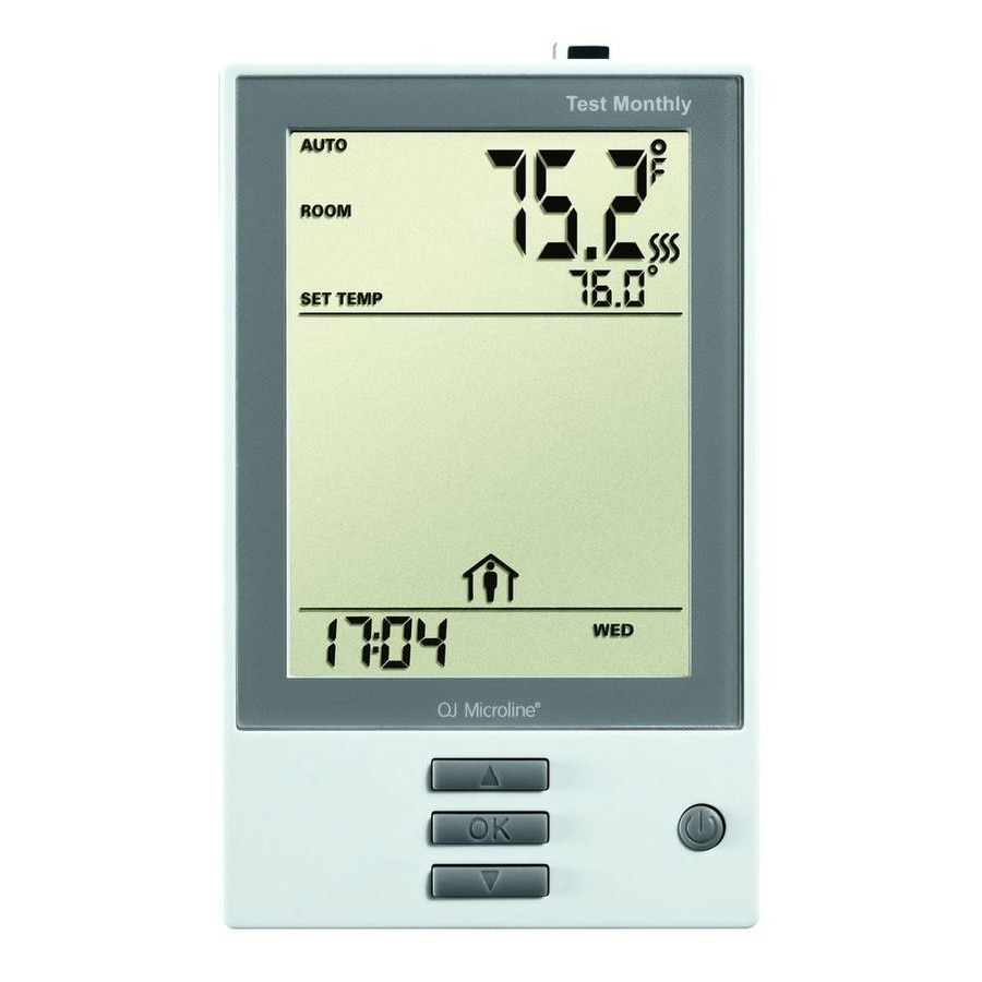 FloorHeat 3-in x 4.75-in White Dual-Voltage Digital Programmable Thermostat