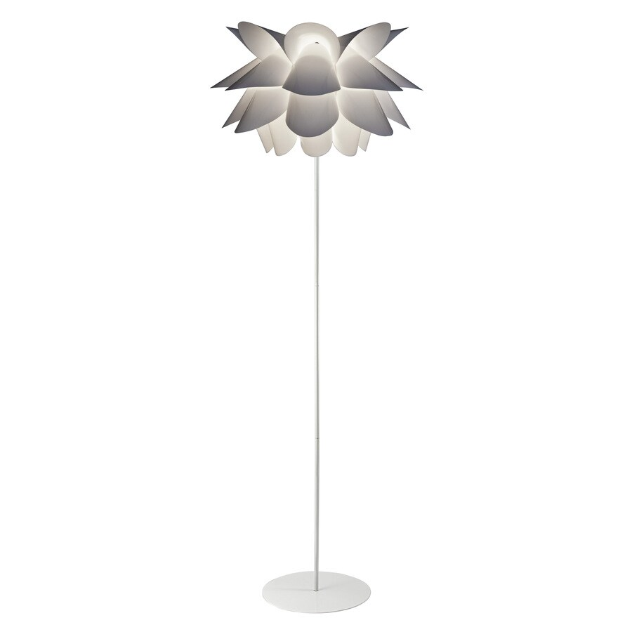 Style Selections 60.5-in White Finish Indoor Floor Lamp with Plastic Shade
