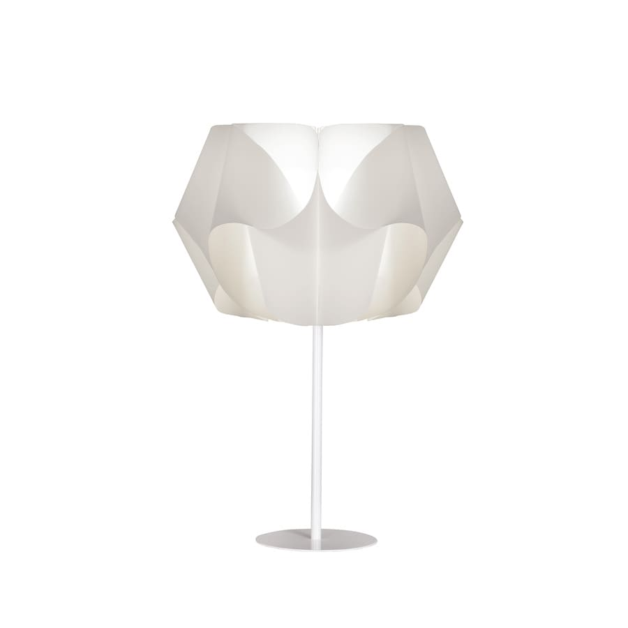 Style Selections Gambrell 20.4-in White Standard Table Lamp with Plastic Shade