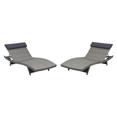 Enjoyable Atlantic Set Of 2 Wicker Metal Stationary Chaise Lounge Chair S With Woven Seat Spiritservingveterans Wood Chair Design Ideas Spiritservingveteransorg