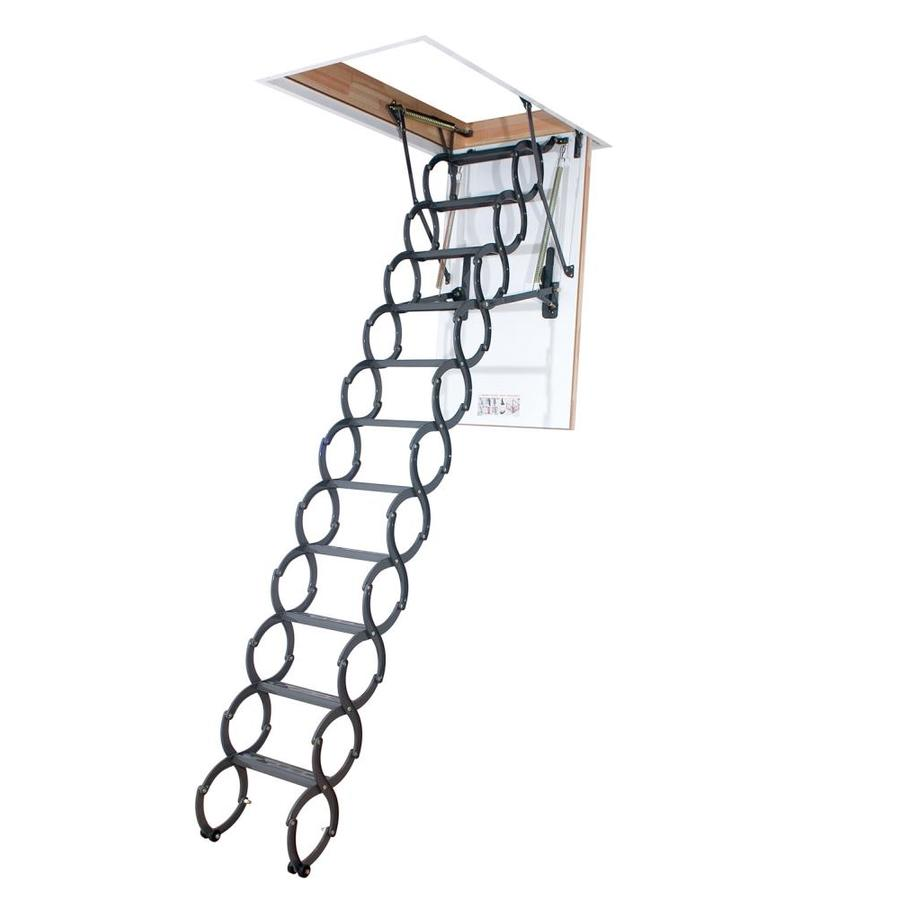 FAKRO LST - Insulated (Scissor) 7.54-ft to 9.2-ft Steel Attic Ladder