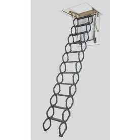 FAKRO LST - Insulated (Scissor) 7.54-ft to 9.2-ft Steel Attic  sc 1 st  Loweu0027s & Shop Attic Ladders at Lowes.com