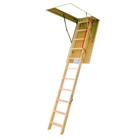 FAKRO LWP   Insulated 7.42 Ft To 8.92 Ft Type IA Wood Attic Ladder