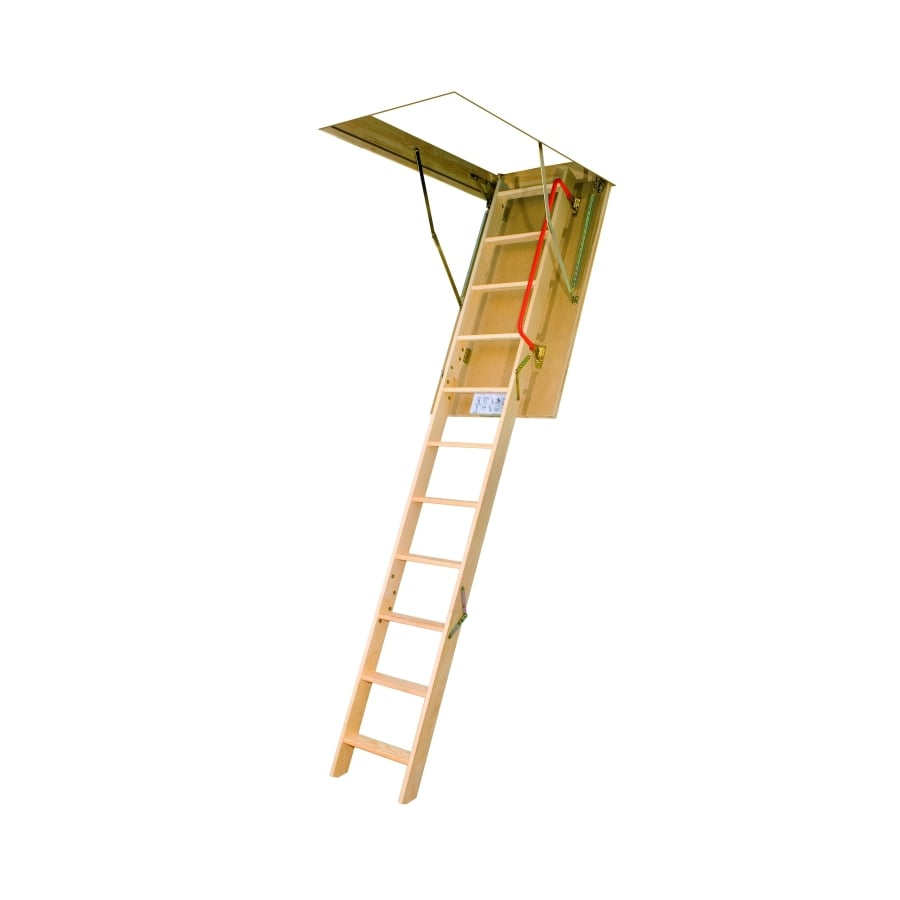 FAKRO LWP - Insulated 7.83-ft to 10.08-ft Type IA Wood Attic Ladder