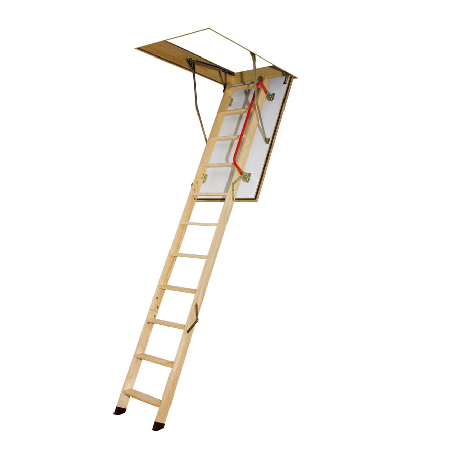 FAKRO LWF - Fire Rated E=30 Min 7.17-ft to 8.92-ft Type IA Wood Attic Ladder