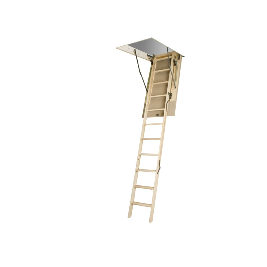 FAKRO LWN - Non Insulated 7.83-ft to 10.08-ft Type I Wood Attic Ladder