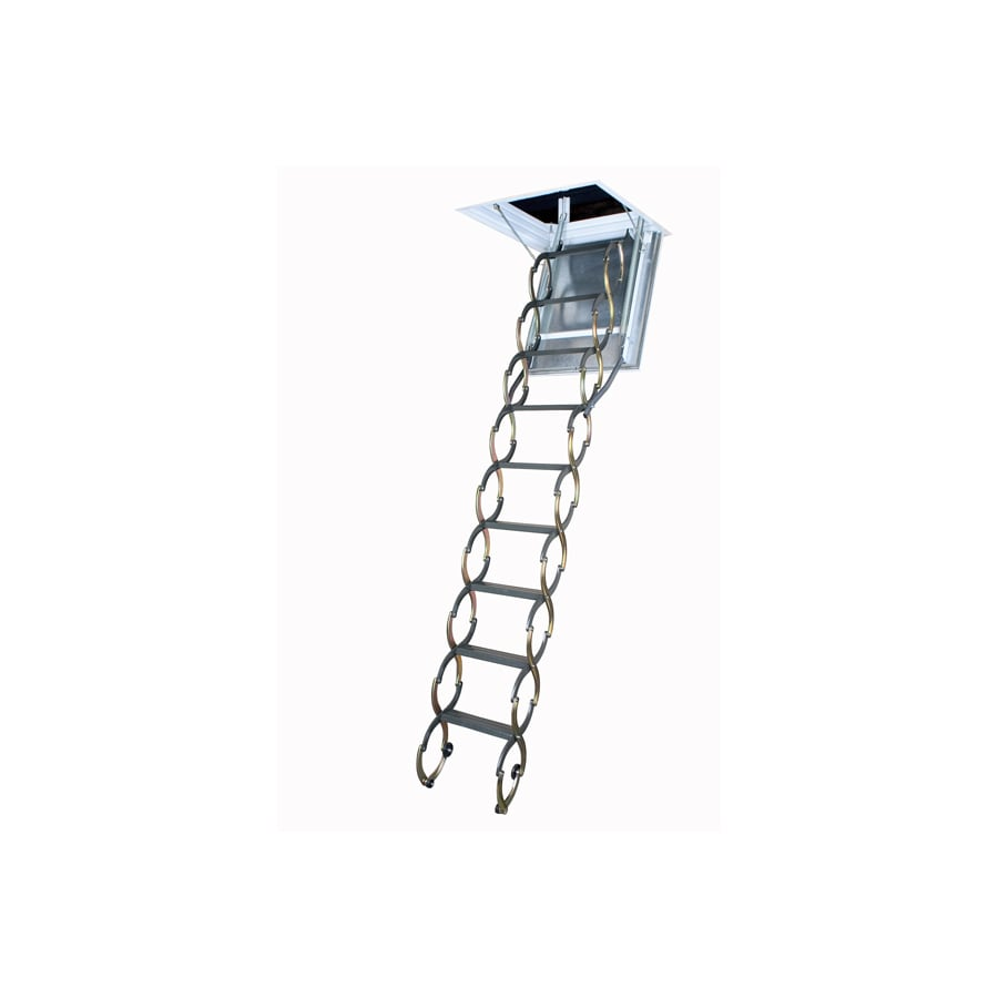 FAKRO LSF - Fire Rated E=60 Min (Scissor) 7.83-ft to 9.85-ft Steel Attic Ladder