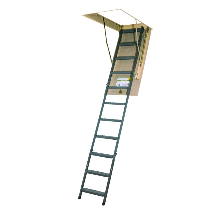 FAKRO 10-1/8-ft Steel 300-lb Type IA Attic Ladder