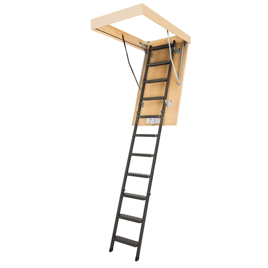 FAKRO LMS - Insulated 7.17-ft to 8.92-ft Type Iaa Steel Attic Ladder