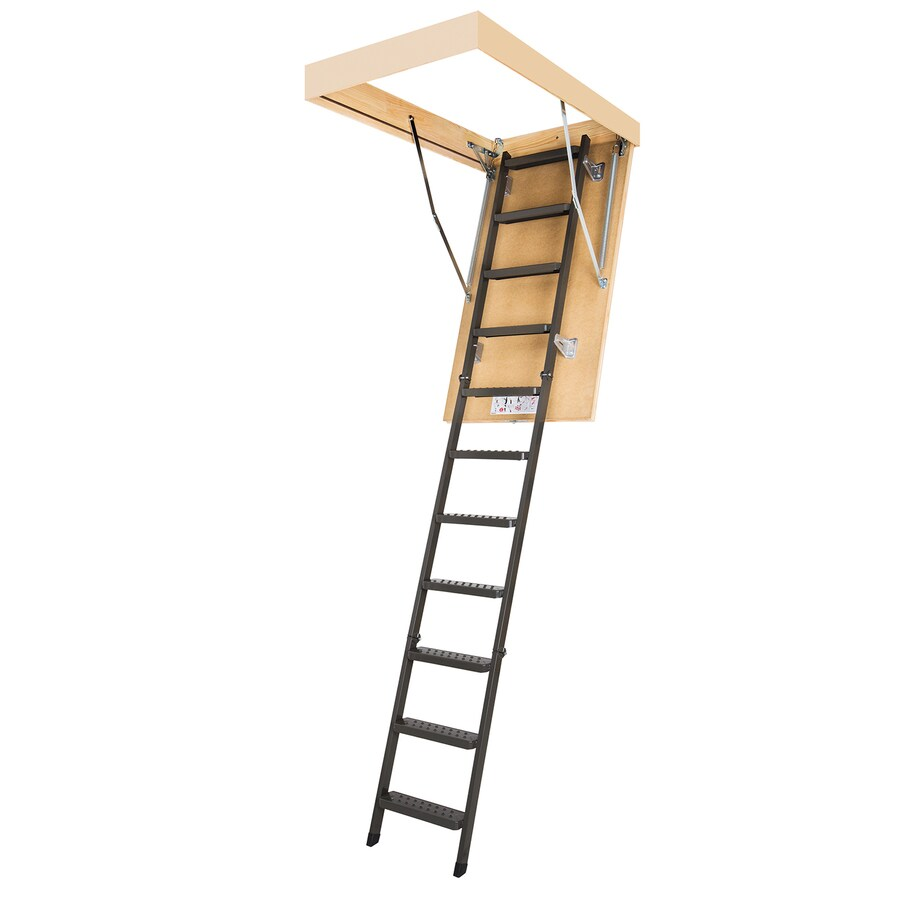FAKRO 8-7/8-ft Steel 350-lb Type IAA Attic Ladder