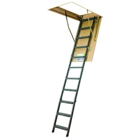 FAKRO LMS   Insulated 7.17 Ft To 8.92 Ft Type Iaa Steel Attic Ladder