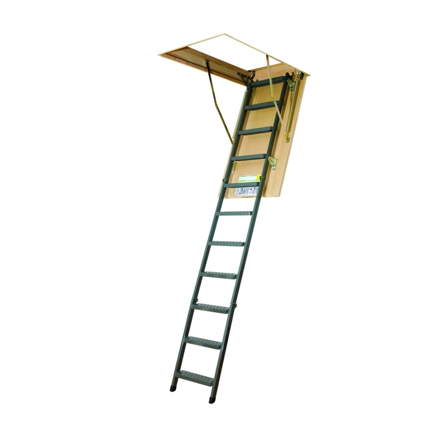 FAKRO 10-1/8-ft Steel 350-lb Type IAA Attic Ladder
