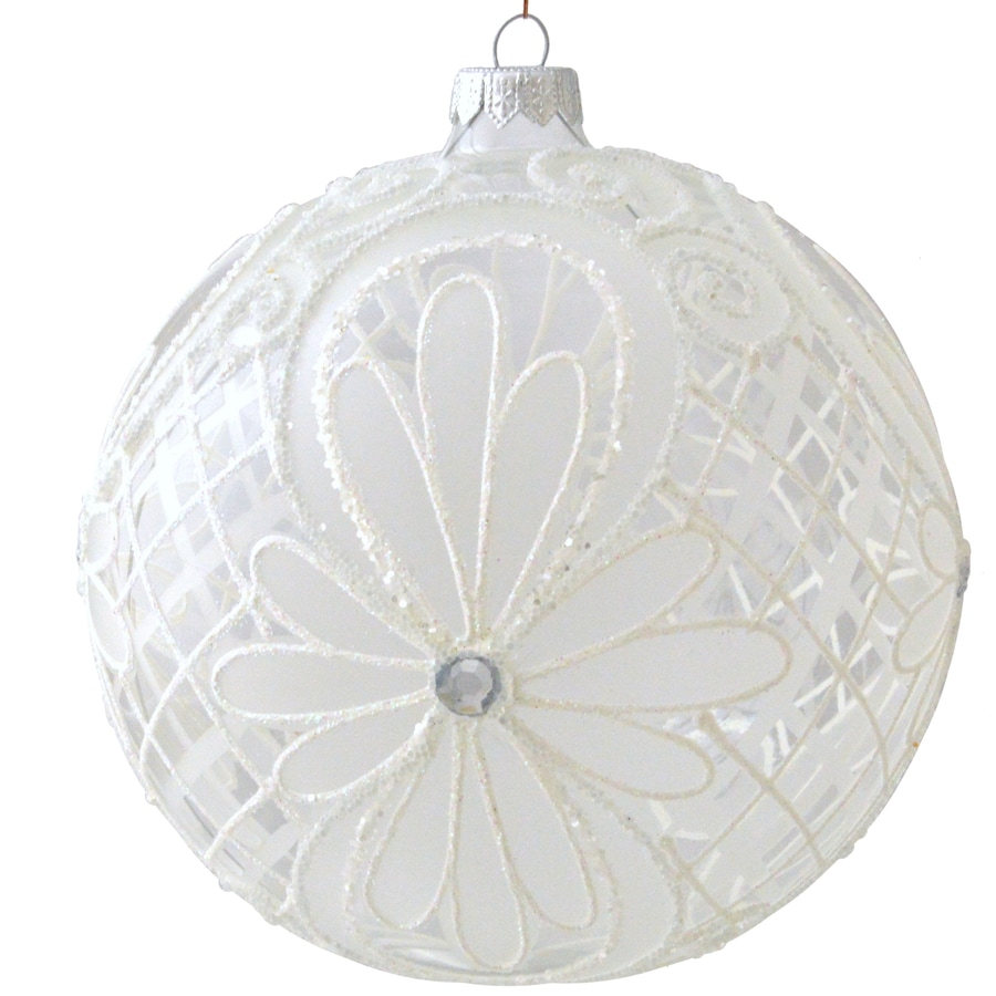 allen + roth White Ball Ornament