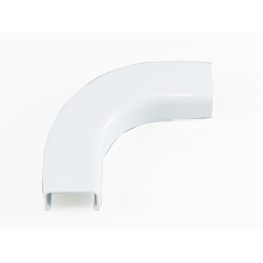 Mono-Systems, Inc. CableHider 2-Piece White Raceway Elbow Kit