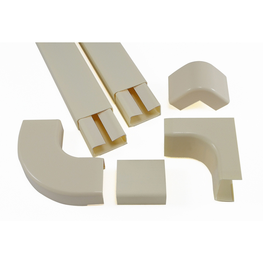 Mono-Systems, Inc. CableHider 6-Piece 120-in L White Raceway Kit