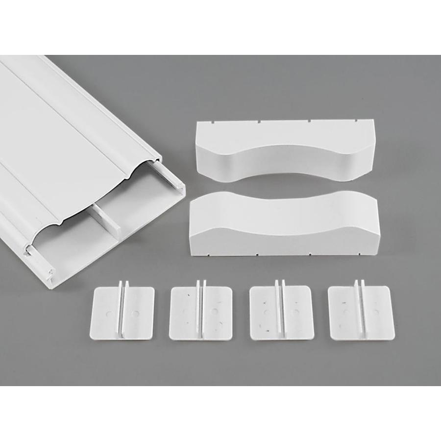 Mono-Systems, Inc. 1-Piece 3-in x 60-in Cord Cover Clips White Cord Cover