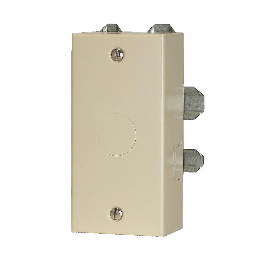 Mono-Systems, Inc. 1-Piece Ivory Raceway Electrical Box