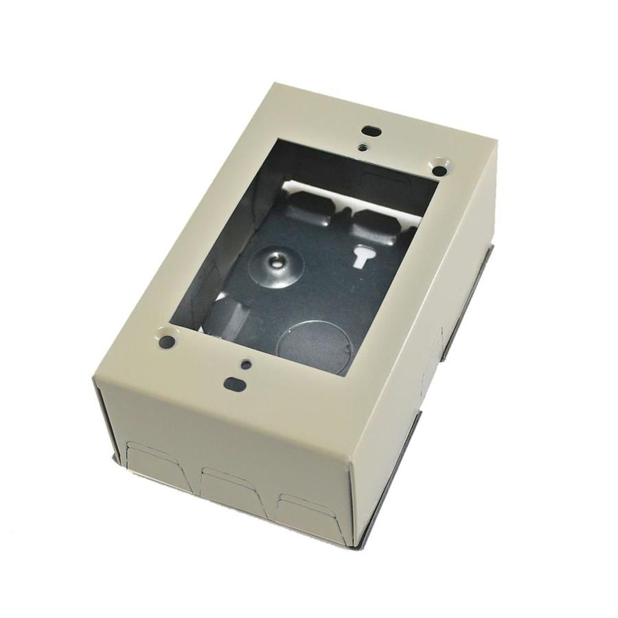 Mono-Systems, Inc. SnapMark 1-Piece Ivory Raceway Electrical Box