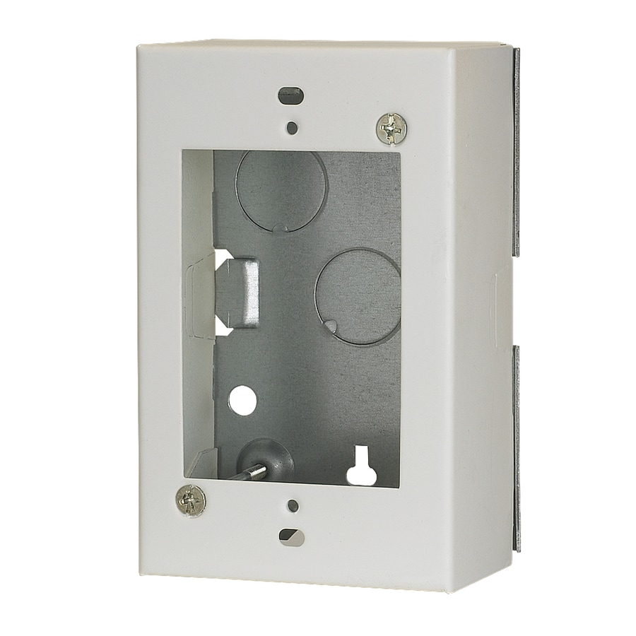 Mono-Systems, Inc. 1-Piece White Raceway Electrical Box