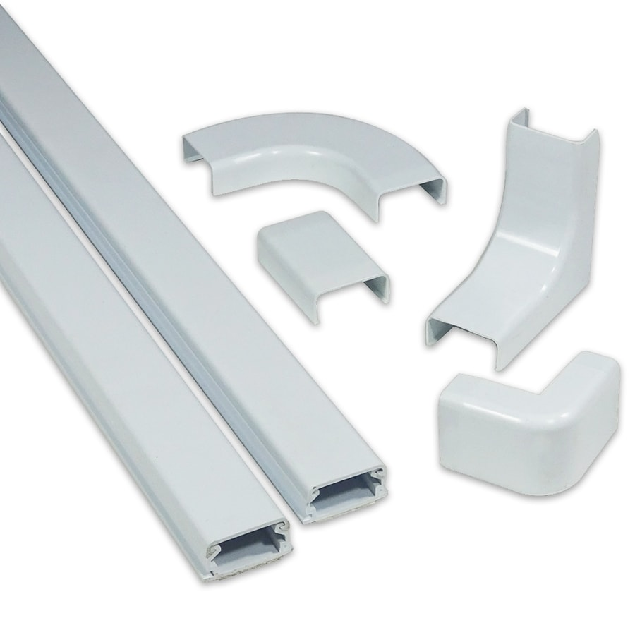 Monosystems Cablehider1 6 Piece 120 In L White Raceway At