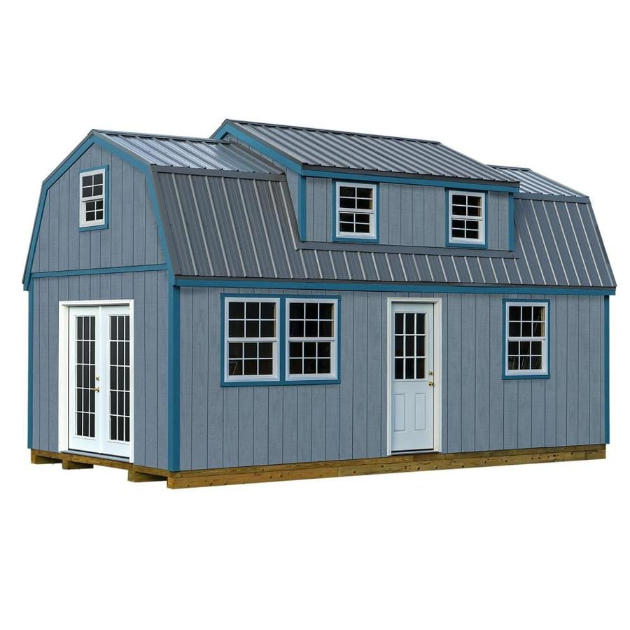 House Kits Home Depot Home Depot Tiny House Plans Homes: Best Barns (Common: 12-ft X 24-ft; Interior Dimensions: 11