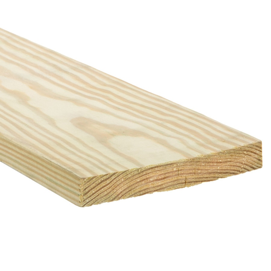 (Common: 1-in x 4-in x 16-ft; Actual: 0.75-in x 3.5-in x 16-ft) Pressure Treated Southern Yellow Pine Board