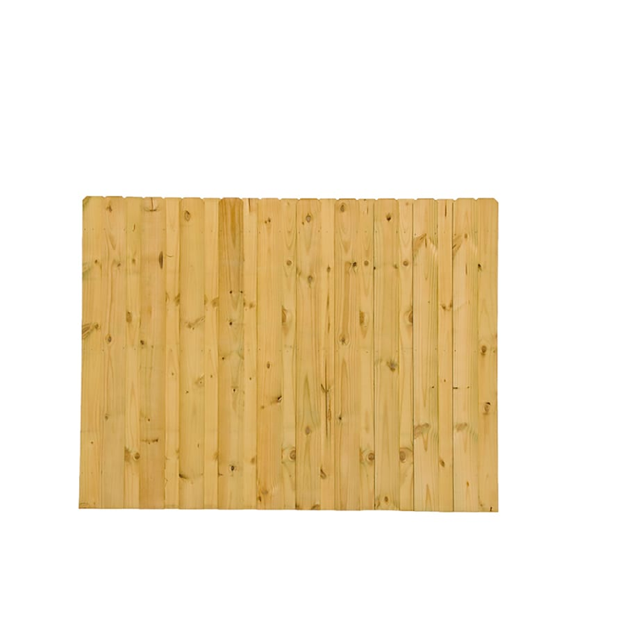 Severe Weather Pressure Treated Pine Fence Panel (Common: 6-ft x 8-ft; Actual: 6-ft x 8-ft)