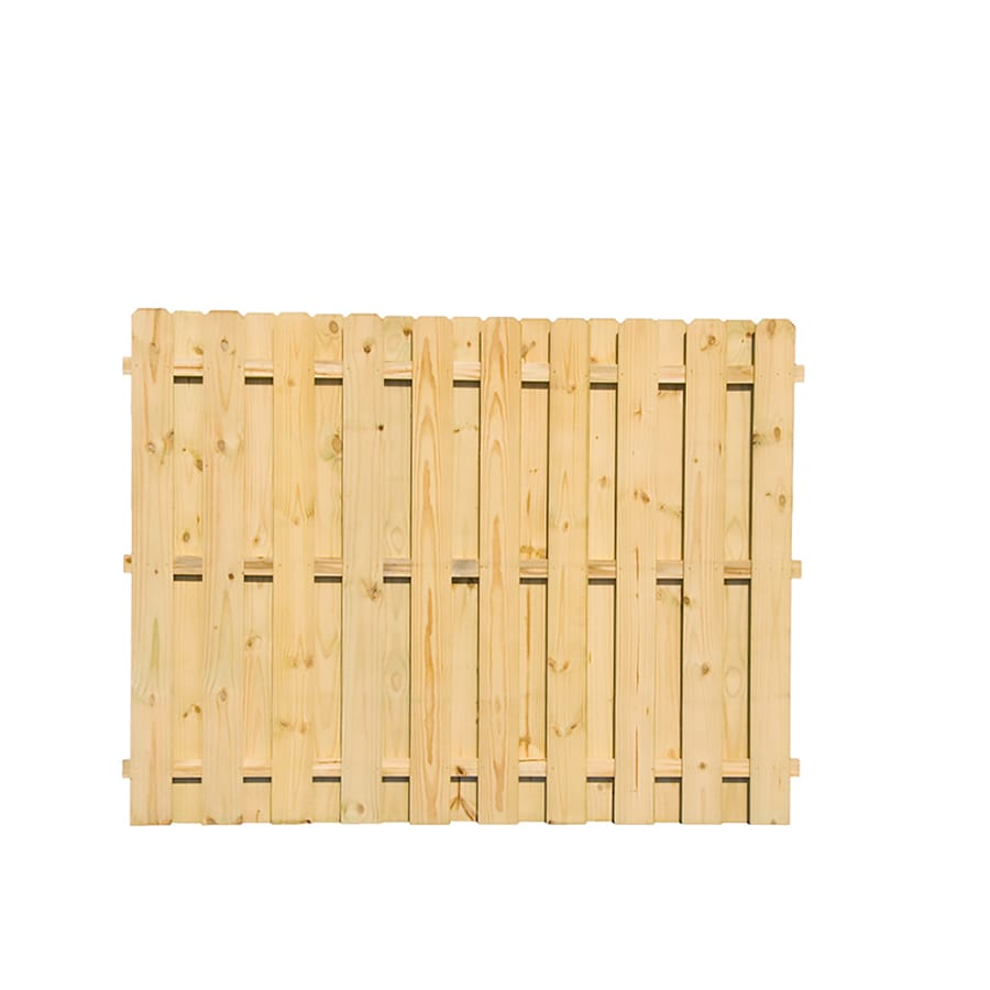 Severe Weather (Actual: 6-ft x 8-ft)  Pressure Treated Pine Fence Panel