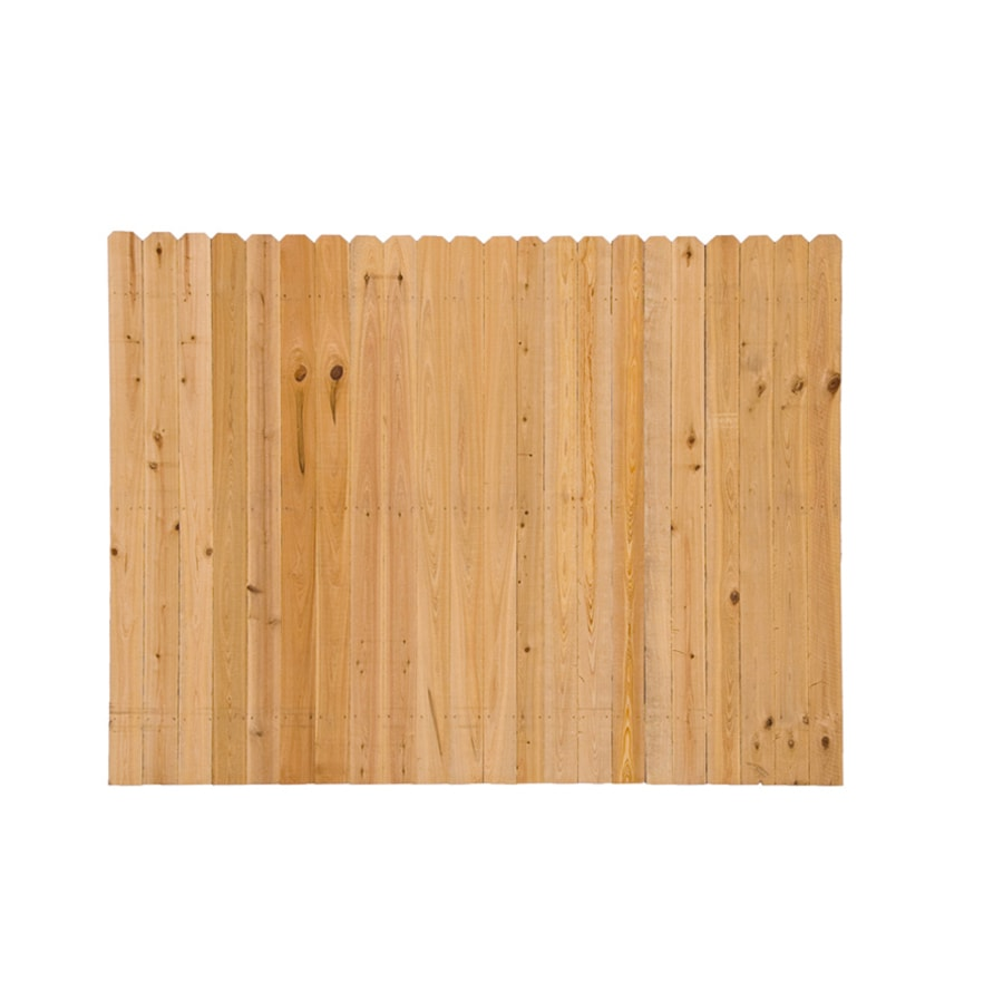 severe weather actual 6ft x 8ft cypress fence panel