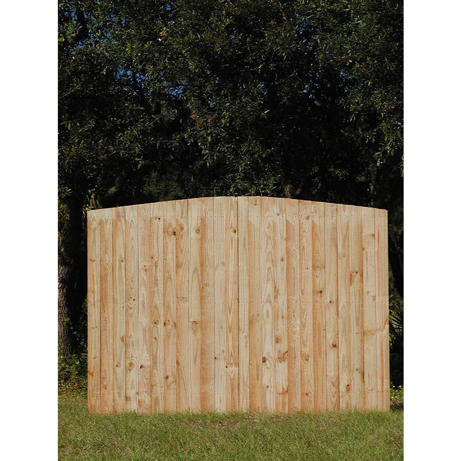 Natural Pressure Treated Pine Semi-Privacy Fence Panel (Common: 6-ft x 8-ft; Actual: 6-ft x 8-ft)