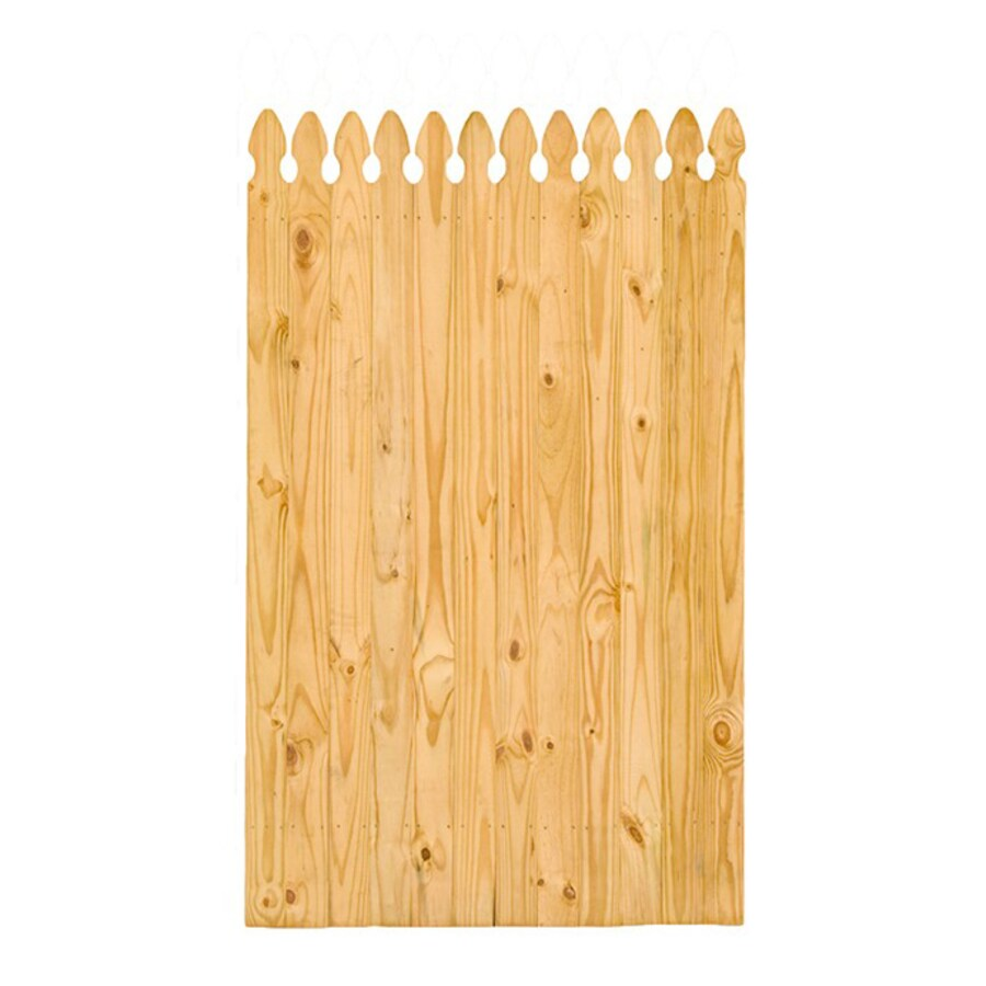 Severe Weather (Common: 6-ft x 4-ft; Actual: 6-ft x 4-ft) Pressure Treated Pine Semi-Privacy Gate