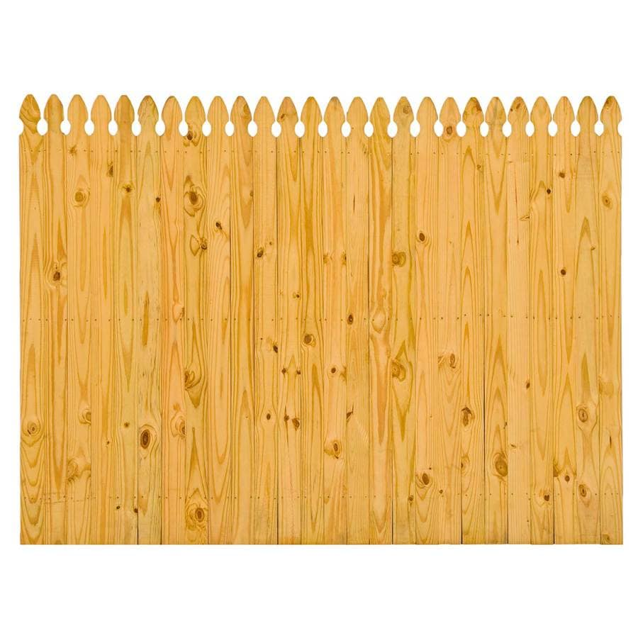 (Common: 6-ft x 8-ft; Actual: 6-ft x 8-ft) Pressure Treated Pine Fence Panel