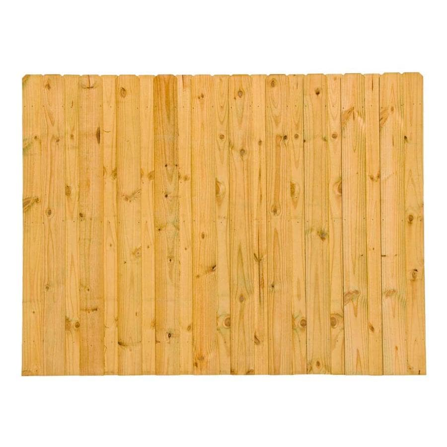 Severe Weather (Common: 6-ft x 8-ft; Actual: 6-ft x 8-ft) Pressure Treated Pine Fence Panel