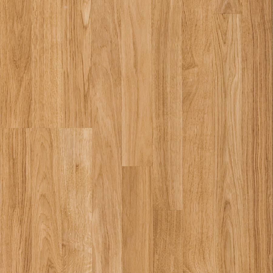 Pergo Simple Renovations 7.61-in W x 3.97-ft L Lancaster Oak Wood Plank Laminate Flooring