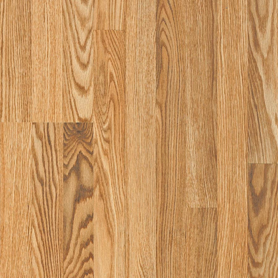 Pergo Simple Renovations 7.61-in W x 3.97-ft L Yorkshire Oak Wood Plank Laminate Flooring