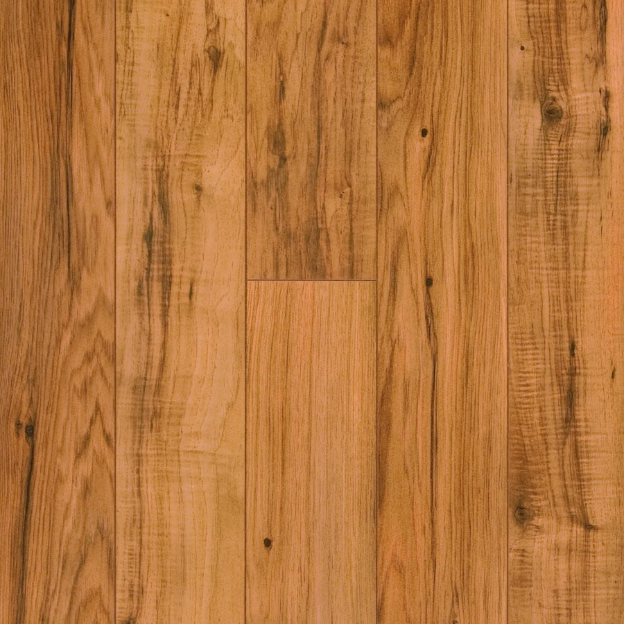 Pergo MAX 4.92-in W x 3.99-ft L Hampton Hickory Wood Plank Laminate Flooring