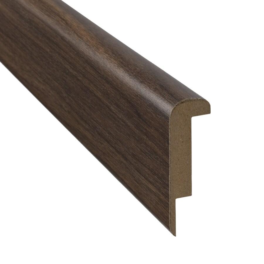 SimpleSolutions 2.37 In X 78.74 In Visconti Walnut Stair Nose Floor Moulding
