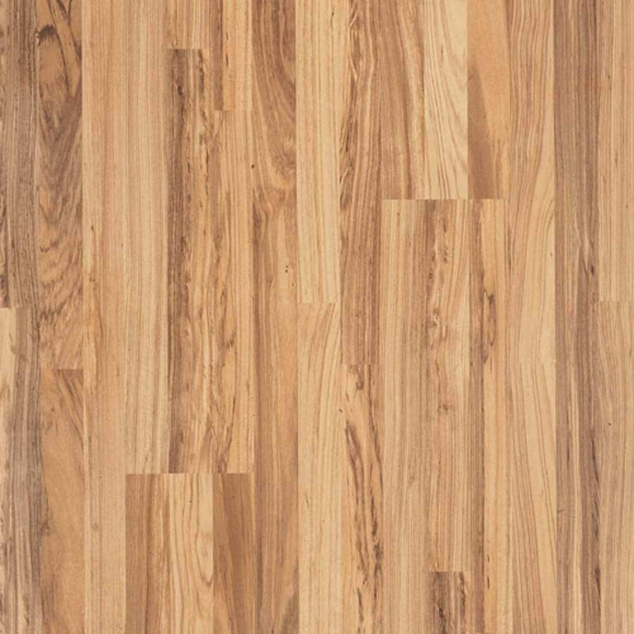 Shop Pergo Max Natural Tigerwood Wood Planks Laminate ...